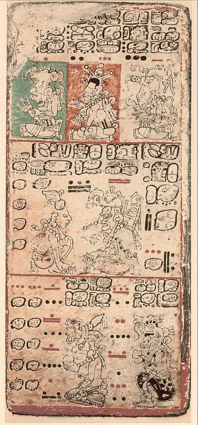 Ausschnitt aus dem Dresden-Codex