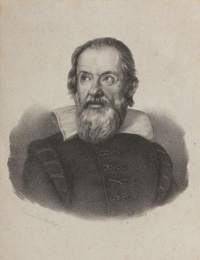 Galileo Galilei. Portraitzeichnung.