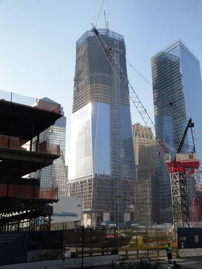 Bauarbeiten am One World Trade Center im Juni 2011