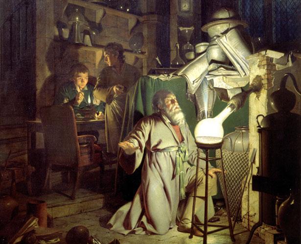 Viele Alchemisten hielten ihre Versuche und Rezepturen streng geheim