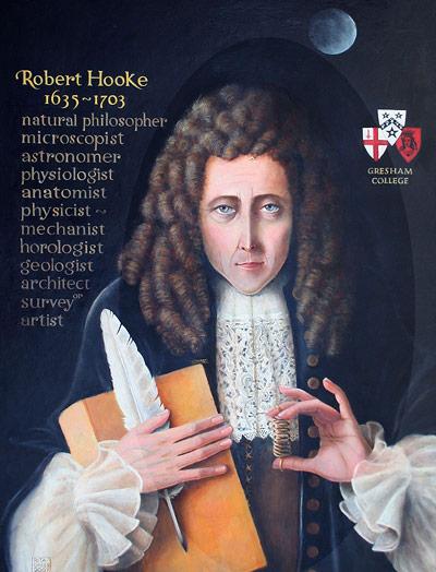 Portrait des Universalgelehrten Robert Hooke