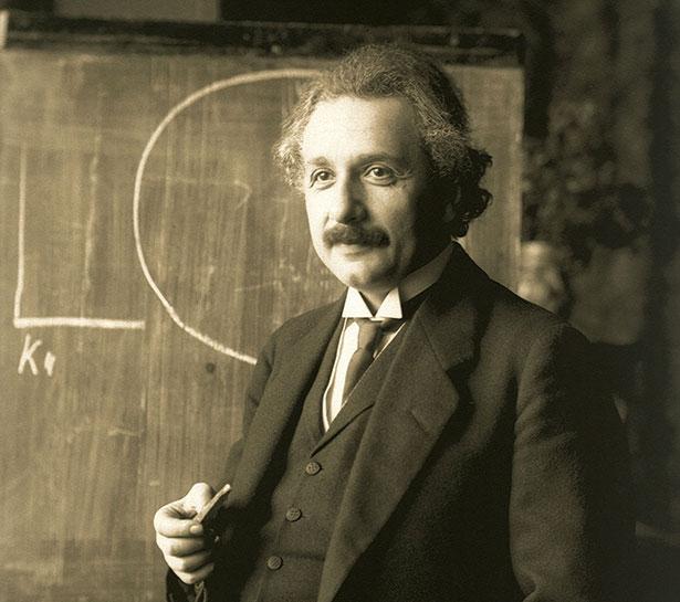 Einstein mit seinem charakteristisch wirren Haarschopf ist heute eine Ikone der Wissenschaft.