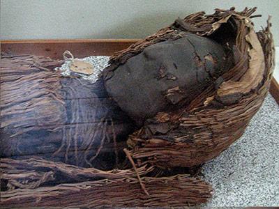 Mumie der Chinchorro-Kultur aus Nordchile.