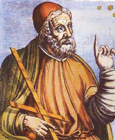 Mittelalterliche Idealdarstellung des Ptolemäus