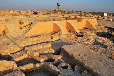 Der Grabungsbereich des Königspalastes von Qatna 2009.
