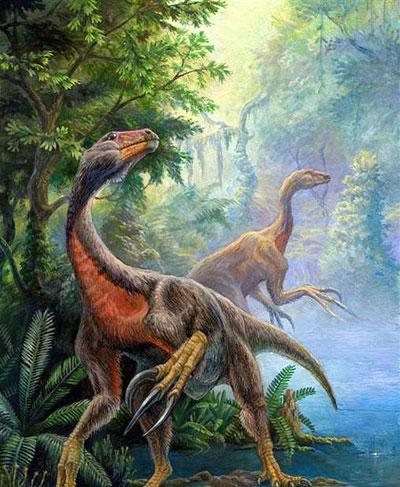 Beipiaosaurus inexpectus war für einen gefiederten Dino ungewöhnlich groß