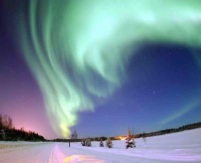 Polarlicht über der Arktis