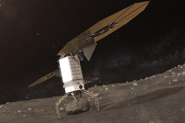 Rohstoffhaltige Asteroiden könnten sich schon bald mit Raumsonden ausbeuten lassen.