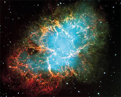 Der Krebsnebel, eines der Beobachtungsobjekte der Bochumer Astronomen
