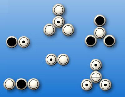 So zeichnete Dalton seine Vorstellung von Atomen und Molekülen