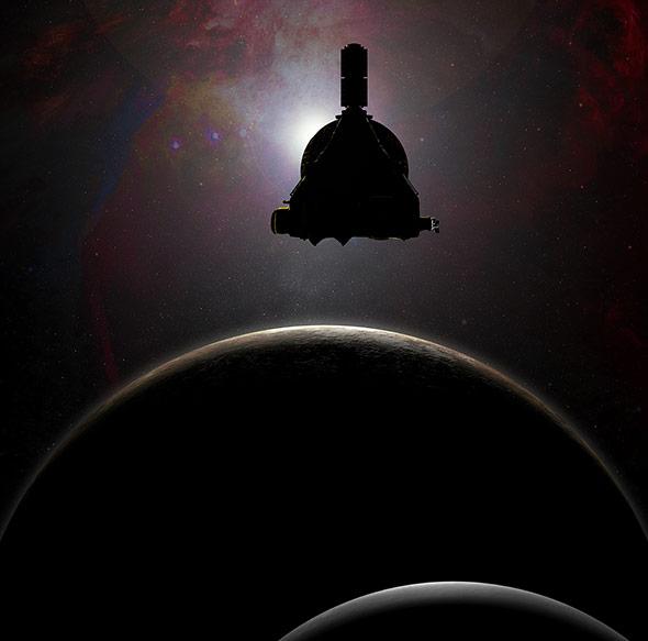 Das Gegenlicht der fernen Sonne soll helfen, die Atmosphäre des Pluto zu enträtseln.