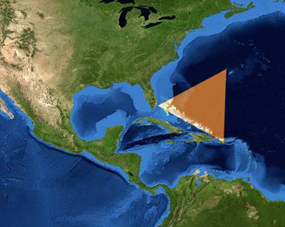 Bermuda-Dreieck im westlichen Atlantik