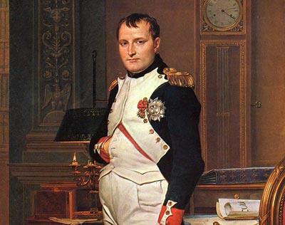 Der französische Kaiser Napoleon, ein - meist - großer Stratege, war Linkshänder