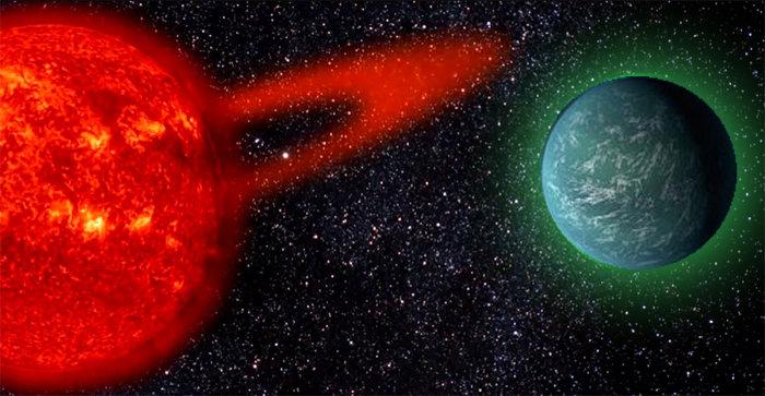"""<span class=""""img-caption"""">Die Biofluoreszenz von außerirdischen Lebensformen könnte ihre Präsenz auf nahen Erdzwillingen verraten.</span> <span class=""""img-copyright"""">© Cornell University</span>"""
