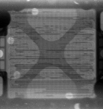 Tomogramm einer mit Neutronen durchleuchteten Brennstoffzelle