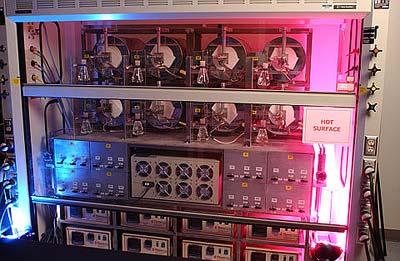 Test von Elektrodenmaterialien auf ihre Eignung für Brennstoffzellen