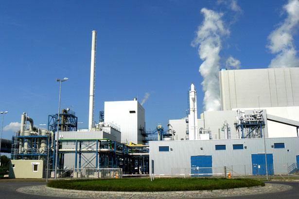 Pilotanlage zur Kohlendioxid-Abscheidung auf dem Gelände des Industrieparks Schwarze Pumpe