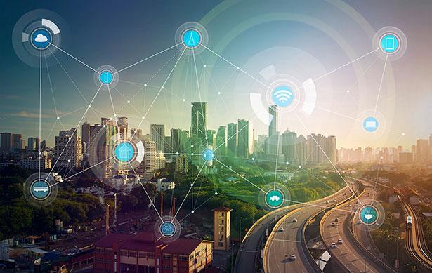 """Vernetzte Stadt: In Zukunft soll auch die Infrastruktur unserer Städte """"intelligent"""" und vernetzt sein."""