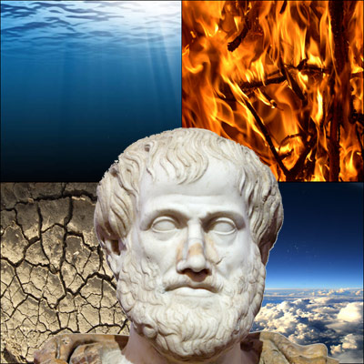 Aristoteles und die vier Elemente