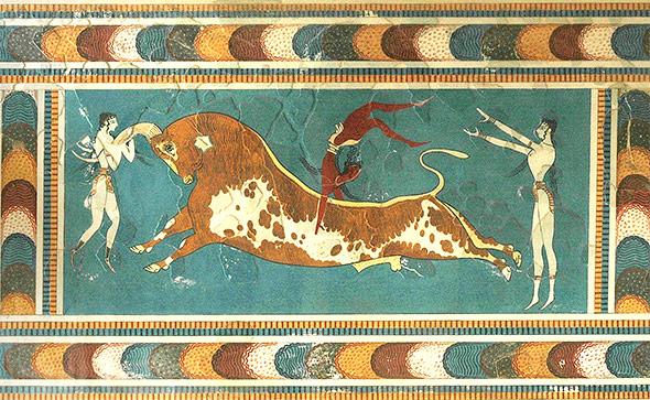 Der Stierspringer-Fresco ist eines der berühmtesten Relikte der minorischen Kultur.