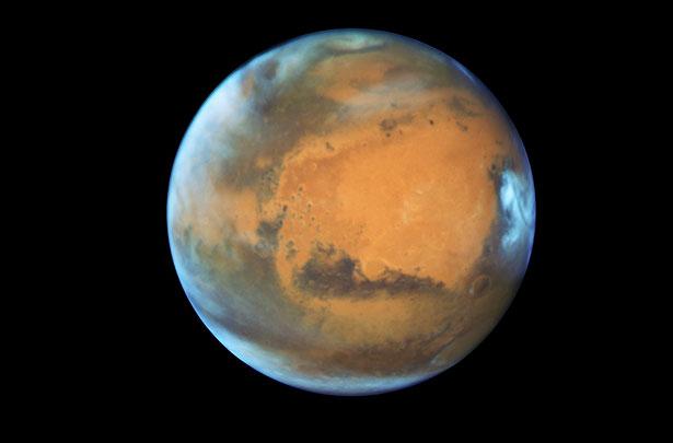 Diese Aufnahme des Mars machte das Hubble-Teleskop am 22. Mai 2016, während der Mars-Opposition.