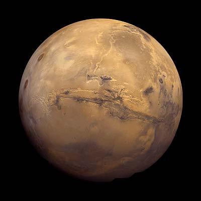 Mars: Blick auf den großen Canyon Valles Marineris