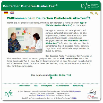 Online-Test zum Diabetes-Risiko