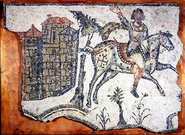 Ein Vandalenkrieger auf einem Mosaik aus Karthago - der Hauptstadt des spätantiken Vandalanreichs in Nordafrika.