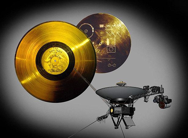 Botschafter der Menschheit: Die goldene Schallplatte könnte noch in Millionen Jahren abspielbar sein.