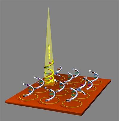 Während ein Flachbettscanner Strahlung aus dem sichtbaren Bereich nutzt, bedient sich der DNS-Scanner der Terahertz-Strahlung.