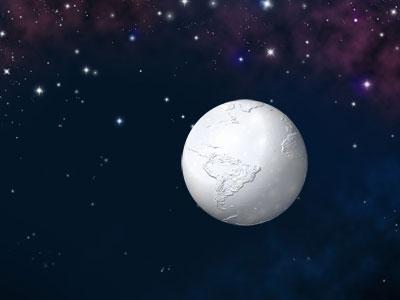 Schneeball Erde