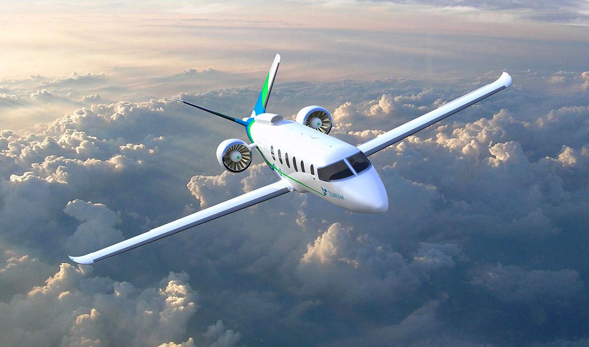 Der Trend zum Elektroantrieb – auch in der Luft. Hier der Zunum Aero, ein Flugzeug für zwölf Passagiere mit rein elektrischem Antriebsstrang. © Zunum Aero