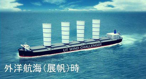 """Wind als Antriebshelfer: Einfahrbare Sgel sollen der """"Wind Challenger"""" zusätzlichen Vortrieb verleihen."""
