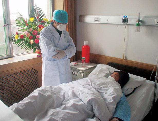 SARS-Patient in einem chinesischen Krankenhaus