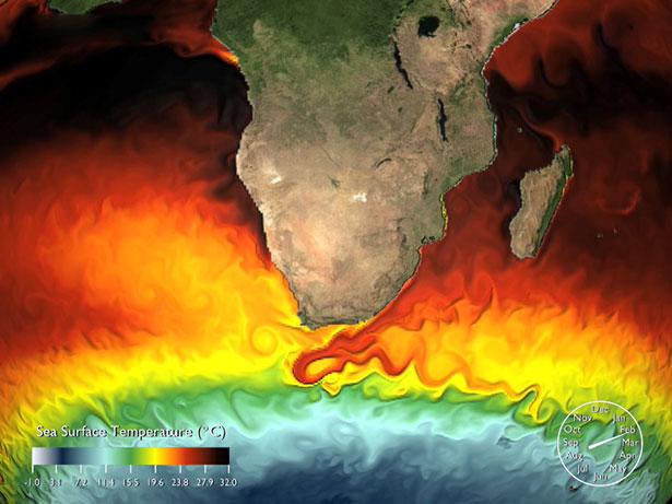 Temperaturunterschiede im Ozean: Sie bleiben deshalb erhalten, weil Strömungen und Sonneneinstrahlung sie ständig erneuern.