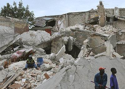 Erdbebenschäden in Port-au-Prince nach dem Haiti-Beben