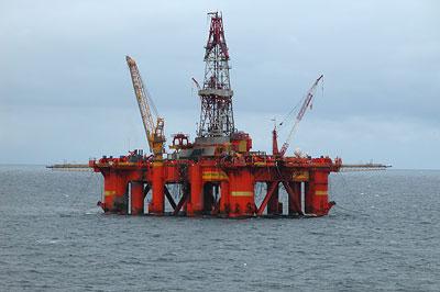 """Deepsea Delta""-Ölbohrplattform in der Nordsee"