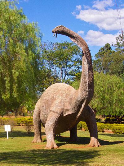 Nachbildung eines Titanosauriers