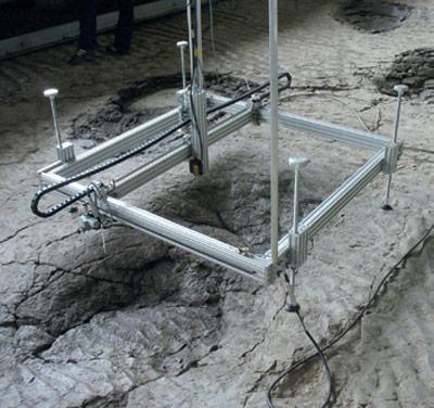 Zusätzlich zur Vermessung der Abdrücke analysierten die Forscher auch Sandproben