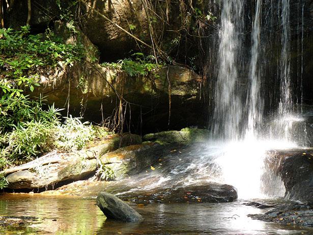 Regenwald, Wasserfälle und unwegsames Gelände: Viele Bereiche des Phnom Kulen sind kaum zugänglich.