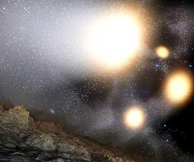 Galaxien-Kollision