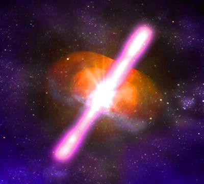 Gamma Ray Burst - so könnte er von nahem aussehen.