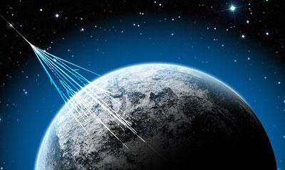 Neutrinos durchqueren zu Milliarden die Erde - unsichtbar und unbemerkt