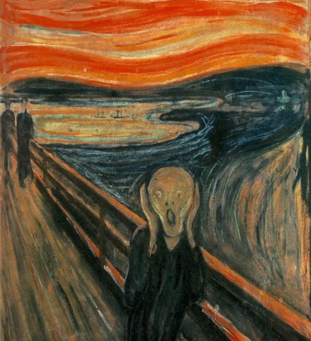 """Edvard Munch litt unter Halluzinationen und verarbeitete diese Erfahrungen auch in seinem Bild """"Der Schrei""""."""