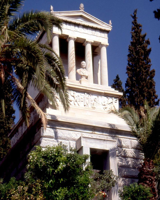 Ein Grabmal für den Pionier: Schliemann-Mausoleum in Athen.