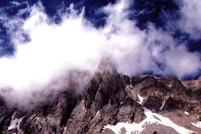 Fön-Lage im Gebirge