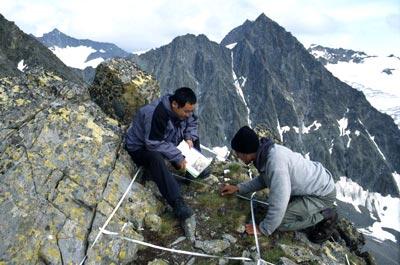 Forschungsarbeiten in den Stubaier Alpen