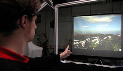 Virtueller Flug durch die Alpen