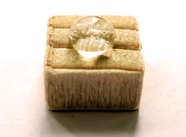 Wasserabweisendes Holz: eine Polymereinlagerung verleiht ihm diese neuen Eigenschaft.