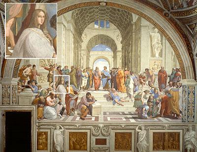 """Das Gemälde """"Die Schule von Athen"""" von Raffaello Sanzio (1511)"""